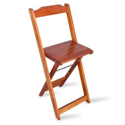 Cadeira Bistrô Dobrável Madeira Padrão Imbuia - Tarimatã