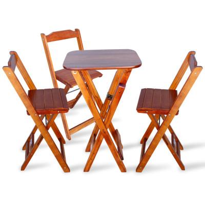 Jogo Dobravel Bistro Com 3 Cadeiras - Imbuia