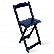 Cadeira Bistro Dobrável Madeira Preta - Tarimatã(100)