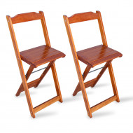 Kit 2 Cadeiras Bistrô Dobrável Madeira Padrão Imbuia - Tarimatã(100)