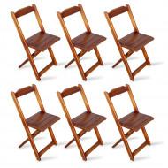 Kit 6 Cadeiras Dobrável Madeira Padrão Imbuia - Tarimatã(100)
