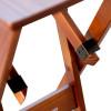 Conjunto De Mesa Dobrável 1,10x70 Com 4 Cadeiras Com Mesa Aparador Tarimatã - Imbuia
