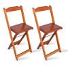 Kit 2 Cadeiras Bistrô Dobrável Madeira Padrão Imbuia - Tarimatã