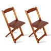 Kit 2 Cadeiras Dobrável Madeira Padrão Imbuia - Tarimatã