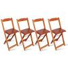 Kit 4 Cadeiras Bistrô Dobrável Madeira Padrão Imbuia - Tarimatã
