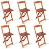 Kit 6 Cadeiras Bistrô Dobrável Madeira Padrão Imbuia - Tarimatã