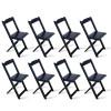 Kit 8 Cadeiras Dobrável Madeira Preta - Tarimatã