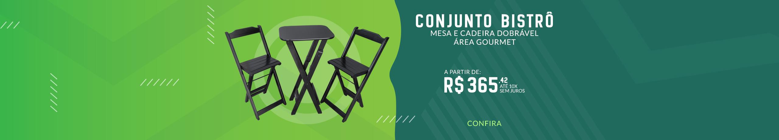 Conjunto Bistrô 2 Cadeiras