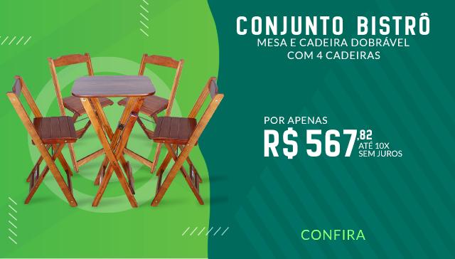 Conjunto Bistrô 4 Cadeiras